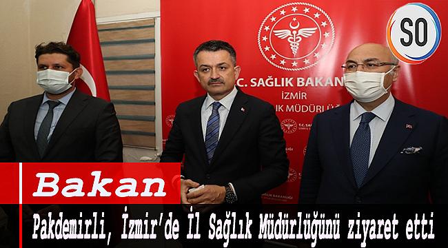 Bakan Pakdemirli, İzmir'de İl Sağlık Müdürlüğünü ziyaret etti.