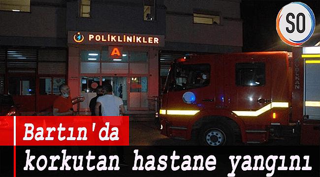 Bartın'da korkutan hastane yangını